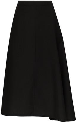 Jil Sander Mia wrap-front midi skirt