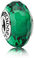 Pandora Green Faceted Murano Charm - Glass / Sterling Silver
