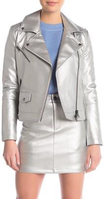 Rebecca Minkoff Hudson Metallic Faux Leather Jacket