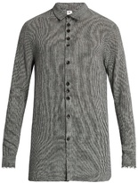 Damir Doma Saba Frayed-edge Wool-blend Shirt
