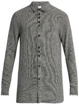 Damir Doma Saba frayed-edge wool-blend shirt