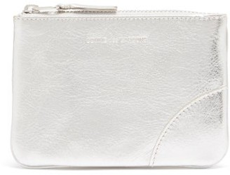 Comme des Garcons Zipped Leather Coin Purse - Silver