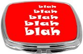 Rikki Knight Compact Mirror, Blah Blah Red