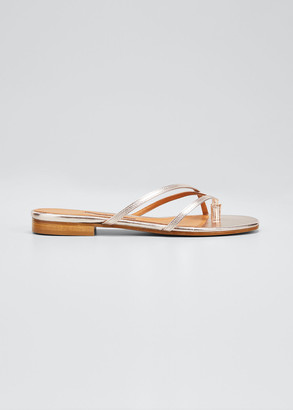 Emme Parsons Sam Metallic Napa Thong Sandals