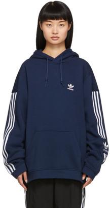 adidas Navy Lock Up Logo Hoodie