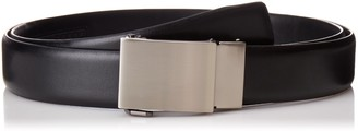 Exact Fit Men's 1.3 in Wide Click To Fit Belt With Plaque Buckle