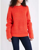 Frame Large Cuffed Raglan chunky-knit jumper