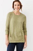 J. Jill Textured Crew-Neck Sweatshirt