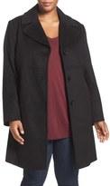 Larry Levine Plus Size Women's Wool Blend Walker Coat