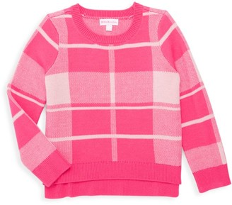 Design History Little Girl's Plaid Crewneck Sweater