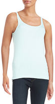 Lord & Taylor Petite Ribbed Cotton Tank