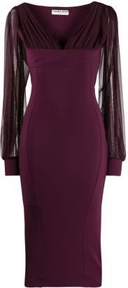 Chiara Boni Le Petite Robe Di Perlita sheer sleeved dress