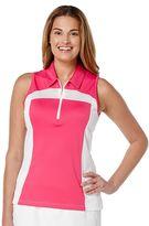 Women's Grand Slam Colorblock Sleeveless Golf Polo