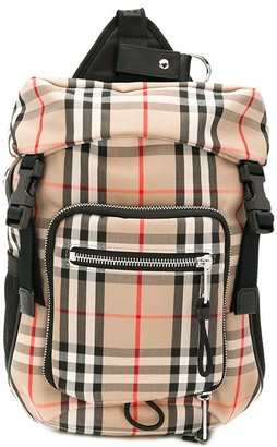 Burberry Check Printed Backpack
