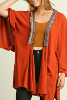 Umgee USA Orange Loose Cardigan