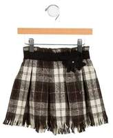 Il Gufo Girls' Plaid Wool Skirt