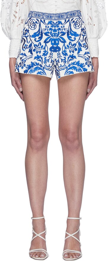 Alice + Olivia 'Sheri' embroidered shorts