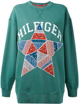 Hilfiger Collection - printed sweatshirt - women - Cotton/Polyester - XS