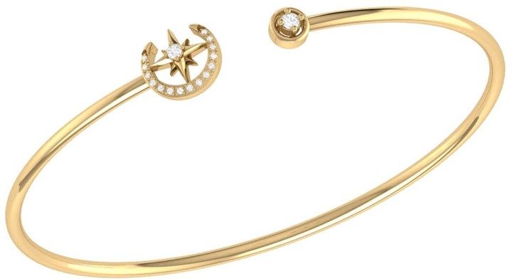 b4c533dfacfd7 Lmj North Star Crescent Cuff In 14 Kt Yellow Gold Vermeil On Sterling Silver