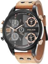 Police Copperhead Men's Wrist Watches, Leather Synthetic Brown Band, Dial (PL14374JSB/02)