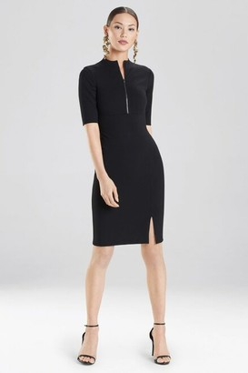 Natori Compact Knit Zipper Front Dress
