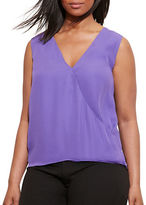 Lauren Ralph Lauren Plus Georgette Sleeveless Blouse
