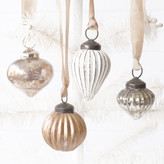 Minted Vintage Metallic Glass Ornaments