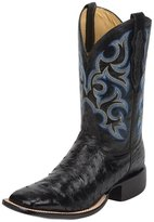 Justin Western Boot Men Full Quill Cowboy Square Toe Black 8514