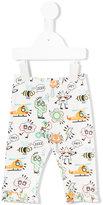 Fendi comic graphic trousers - kids - Cotton/Spandex/Elastane - 6 mth