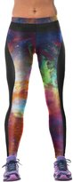 Pink Queen Girls Cosmos Printed Wide Waistband GYM Fitness Leggings Active Tights