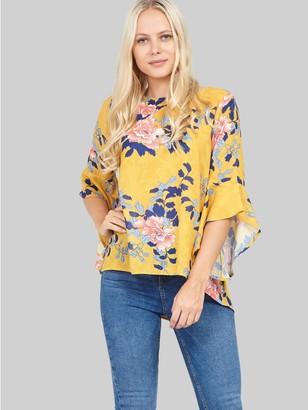 M&Co Izabel frill sleeve boxy blouse