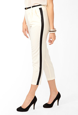 Forever 21 High-Waisted Striped Pants