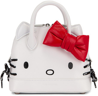 Balenciaga XXS Kitty Top Handle Bag in Optic White   FWRD
