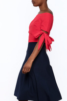 essue Red Cropped Top