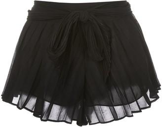 Kiki de Montparnasse Tap silk shorts