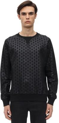 Balmain Bb Monogram Cotton Jersey Sweatshirt