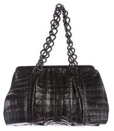 Nancy Gonzalez Crocodile Chain Shoulder Bag