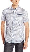 Buffalo David Bitton Men's Sonoxam Short Sleeve Poplin Woven Shirt