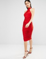 AX Paris T Bar Bodycon Midi Dress In Slinky