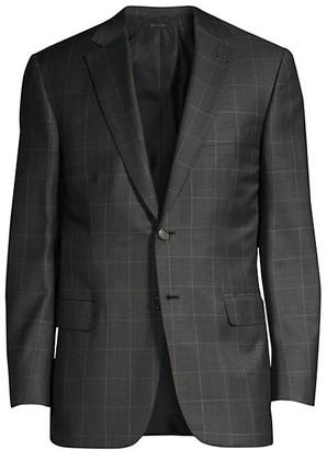 Brioni Virgin Wool Windowpane Suit