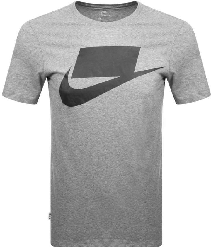 Nike Innovation Swoosh Logo T Shirt Grey