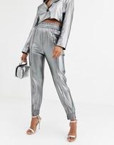 Asos Design DESIGN metallic utility suit trousers