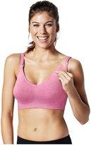 Bravado Designs Body Silk Seamless Yoga Bra-Pink Heather-X-Large