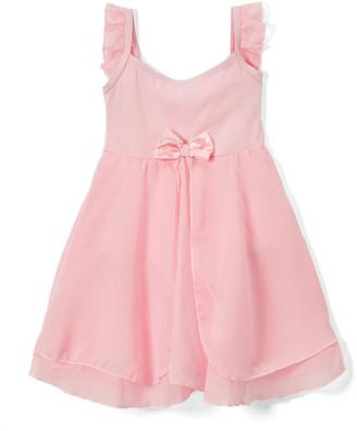 Wenchoice Girls' Leotards PINK - Pink Chiffon Empire-Waist Skirted Ballet Dress - Infant, Toddler & Girls