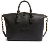 Tory Burch Harper Slouchy Leather Satchel - Black
