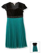Speechless Girls' 7-16 Green Pleated Dress