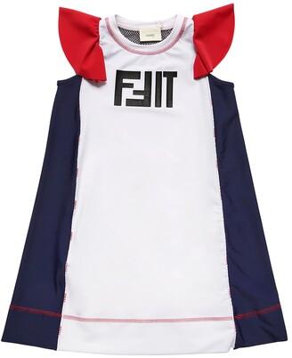 Fendi Fit Printed Lycra Dress