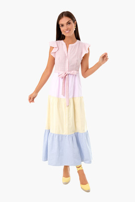ENGLISH FACTORY Colorblock Effie Maxi Dress