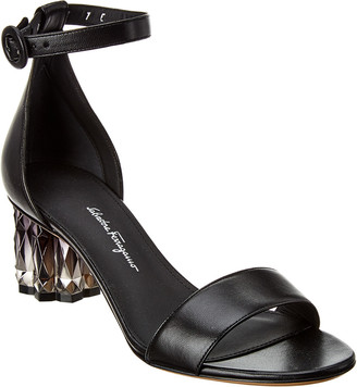 Salvatore Ferragamo Azalea Leather Sandal
