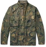 Belstaff Tyefield Camouflage-Print Waxed-Cotton Field Jacket